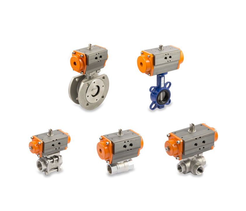 Multiple-fluid process valves - Actuated valves Series RV-FLUID